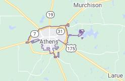 athens tx map