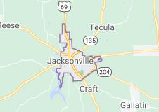 jacksonville tx map