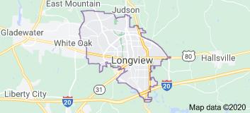longview tx map